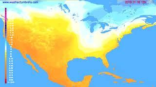Temperature forecast USA & Canada // modelrun: 00h UTC 2019-11-17