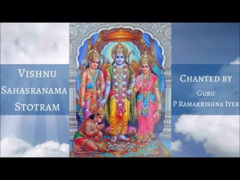 LEARN VISHNU SAHASRANAMA STOTRAM - Slow Chanting by Guru P Ramakrishna Iyer