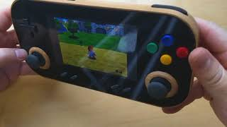 Wooden handheld game console