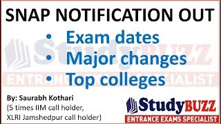 SNAP notification out: Exam date, Registration dates, major changes, top colleges