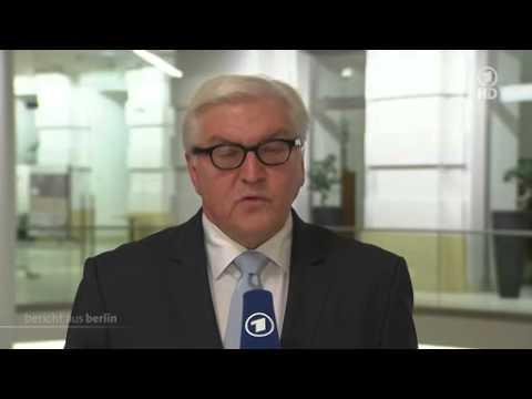 Interview mit Außenminister Frank-Walter Steinmeier mit Uli Deppendorf im ARD Bericht aus Berlin