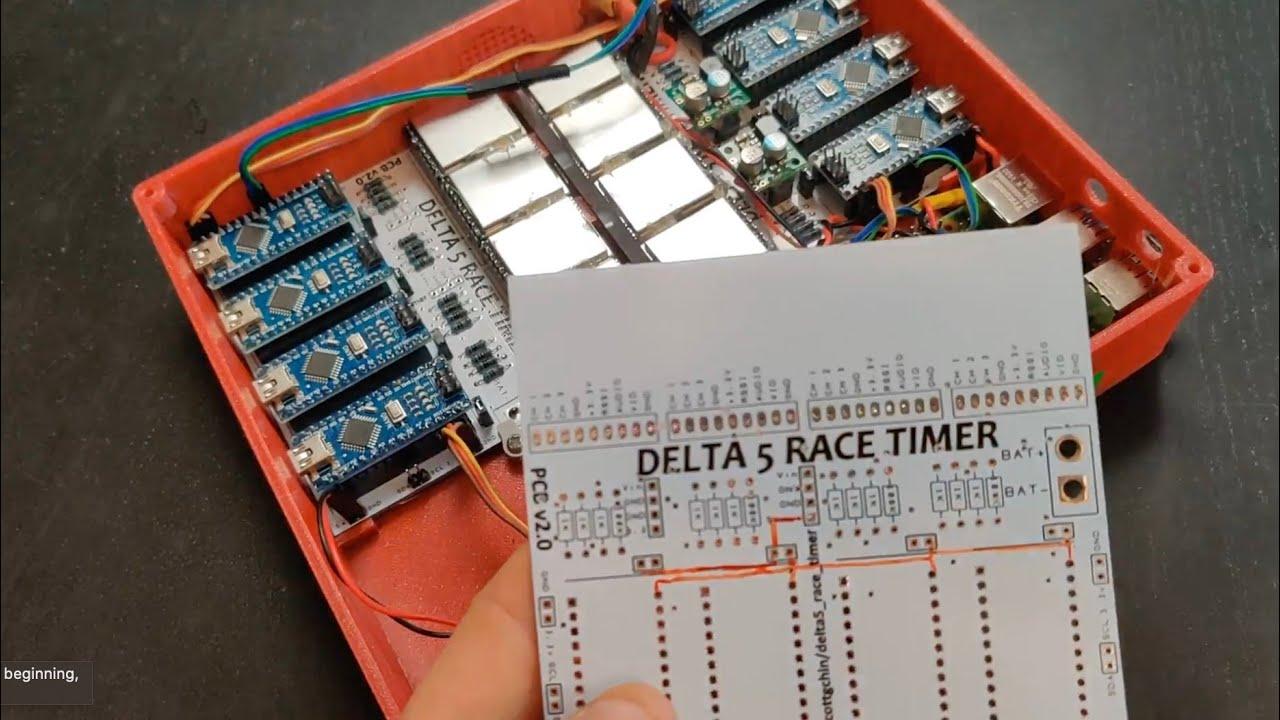 Delta 5 Race Timer PCB board v2.0