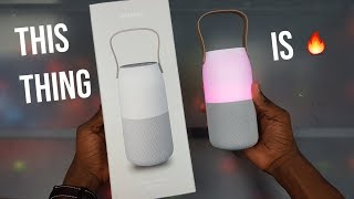 samsung Bottle Design Wireless speaker unboxing and review