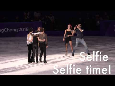 Figure Skating GALA finale + selfie time   2018 Winter Olympics