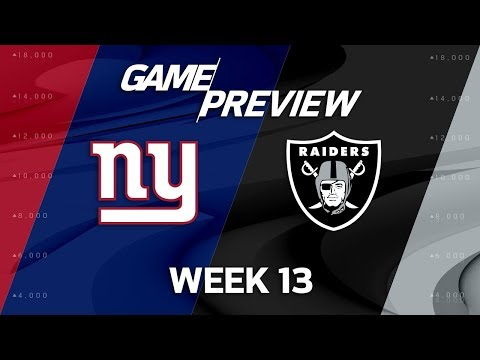 New York Giants vs. Oakland Raiders | NFL Week 13 Game Preview