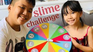 Thử thách làm slime | Quay số chọn nguyên liệu | Slime Challenge by Mystery Wheel
