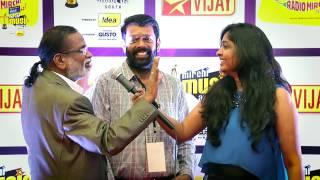 MIRCHI MUSIC AWARDS SOUTH 2014 – VASANTH & GANGAI AMARAN ON THE RED CARPET OF MIRCHI MUSIC AWARDS 2014 Vijay tv 06-09-2015