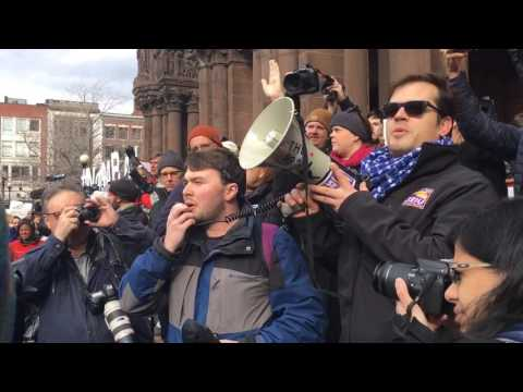 Thousands protest Trump executive order in Copley Square