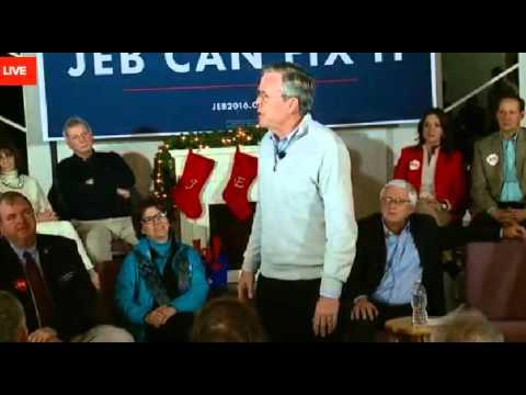 Jeb Bush falsely says he
