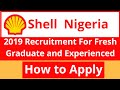 Jobs In Nigeria:Shell Nigeria 2019 Recruitment For Fresh Graduate And Experienced