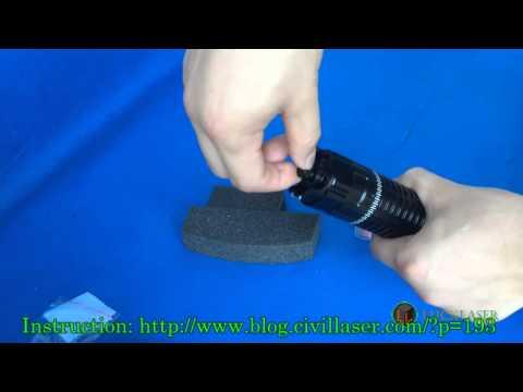 980nm 3000mw 3 watt Ir laser pointer invisible laser powerful laser -- Lucklaser