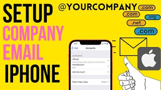 iPhone 12/Pro How t๐ Setup Company Email on iPhone/ Business Email Account 13 Pro Max (iOS 15)