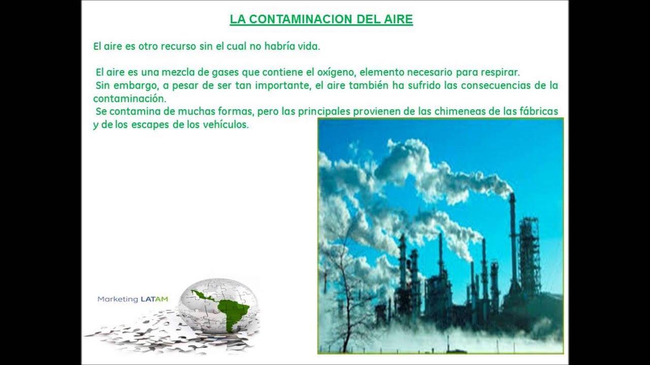 La contaminacion del aire agua suelo y sonica youtube for Que elementos conforman el suelo