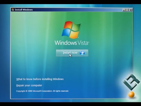 How To: Reinstall Windows Vista Operating System Factory Reset