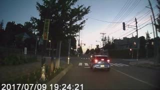 音更町木野 パトカーに追われる車 20170709