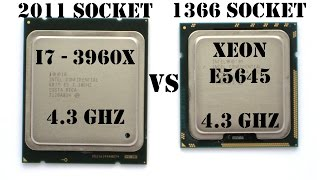 2011(i7 3960X) vs 1366(E5645), 4.3GHz Test Performance (i7 3930K, X5650, i7 990X)