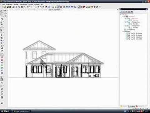 cad software architektur video tutorial ansichten youtube. Black Bedroom Furniture Sets. Home Design Ideas
