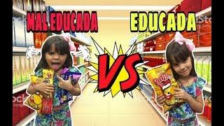 Criança Educada VS Criança Mal Educada NO MERCADO / Tipos de Criança