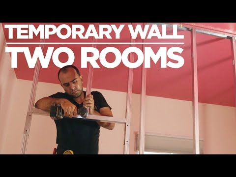 How to Build a Temporary Wall (With Metal Studs)