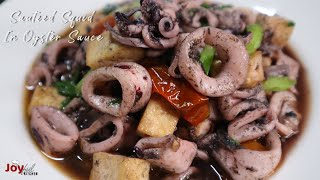Sauteed Squid in Oyster Sauce with Tofu