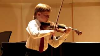 Seitz Concerto No 3 in G Minor - ASTA Fall 2013 recital - Dylanz, 11 yrs old