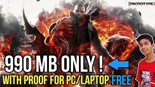 Download Prototype 2 Highly Compressed For Pc In Just 990 MB Only