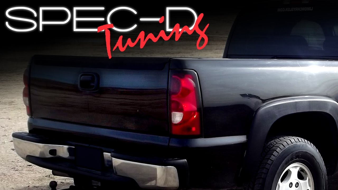 SPECDTUNING Installation Video: 20032006 Chevy Silverado Altezza Tail Lights Installation  YouTube