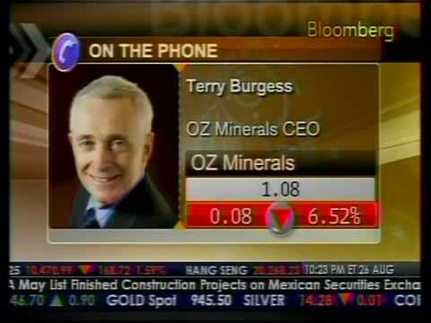 OZ Minerals Sells Assets To China Minmetals - Bloomberg