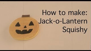 Jack-o-lantern Squishy Tutorial