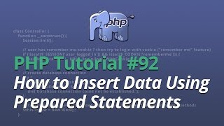 PHP Tutorial - #92 - How to Insert Data Using Prepared Statements (PDO)