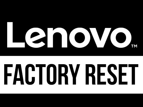 How To Reset Your PC To Factory Defaults - Lenovo Laptop | Factory Reset | Delete All Files