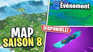 SNOWBOARD DISPONIBLE, MAP SAISON 8 & Autre sur FORTNITE !