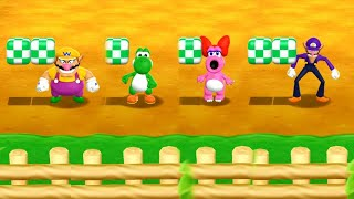 Mario Party 9 Garden Battle - Wario vs Yoshi vs Birdo vs Waluigi| Cartoons Mee