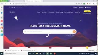 Cách Reg Miền .Com .Net .... Free Và Hosting Free 2020 | Nhok Dũng Ceation