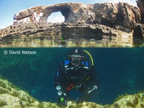Diving Gozo - Blue Hole, Inland Sea.