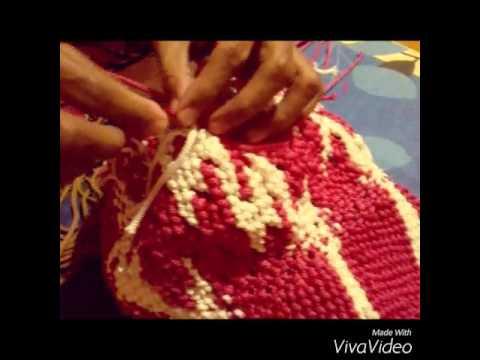 cara membuat tas tali kur husnul hotimah 3 - YouTube