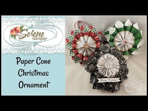 Paper Cone Christmas Ornament