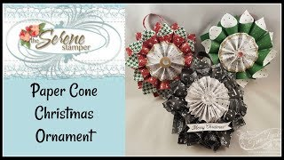 Paper Cone Christmas Ornament