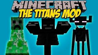 THE TITANS MOD - Los Mobs mas Gigantes de minecraft! - Minecraft mod 1.8 Review ESPAÑOL