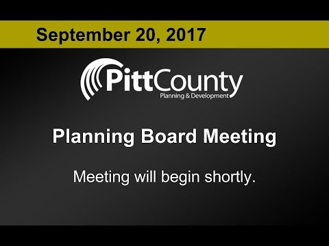 Pitt County Planning Board meeting for 9/20/2017