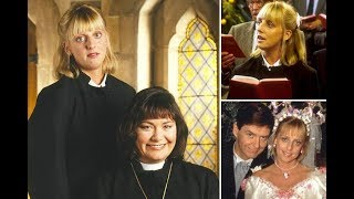 Emma Chambers' Vicar Of Dibley best bits – from her wedding to Hugo to not believing it's