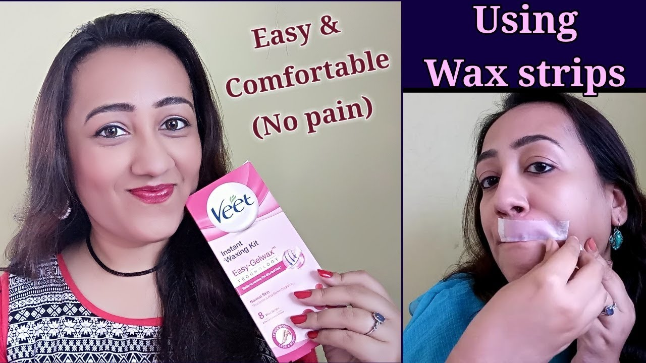 Remove Facial Hair With Veet Instant Waxing Strip Best Safe Option Youtube