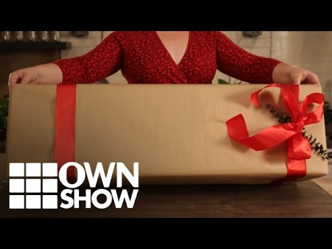 DIY: How to Wrap an Oversized Box | #OWNSHOW | Oprah Online