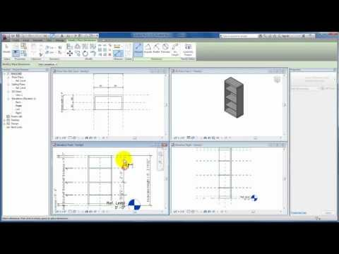 Revit Tutorials: Revit Families - Bookcase Family