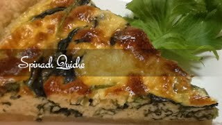 Spinach Quiche -  Easy Recipe - Supersimplekitchen