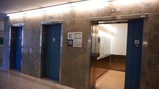 1990s KONE M-series traction bed / passenger elevators @ Linköping University Hospital (Building 2)