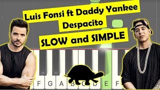 Luis Fonsi ft Daddy Yankee - Despacito easy piano tutorial (slow version)