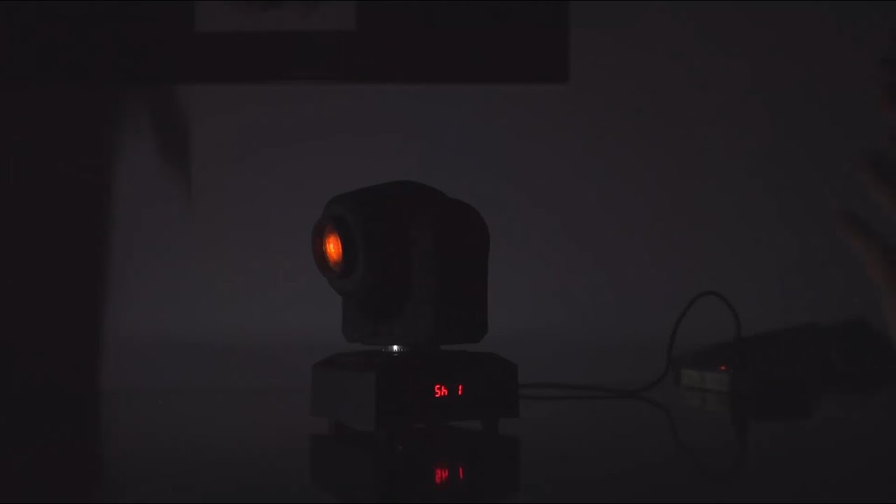LIXADA DMX-512 Mini Moving LED RGBW Stage Light with Shapes Automatic  Professional 9/11 Channel