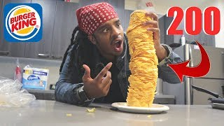 ORDERING 200 SLICES OF CHEESE ON A CHEESEBURGER !!!
