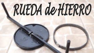 RUEDA DE HIERROS, para hacer aros de 15 cm....